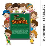 back to school blank template... | Shutterstock .eps vector #657881572