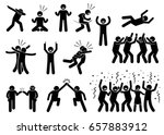 celebration poses and gestures. ... | Shutterstock .eps vector #657883912