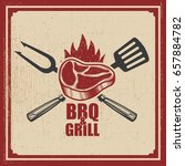 barbecue and grill. grilled... | Shutterstock .eps vector #657884782