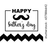 happy father s day greeting... | Shutterstock .eps vector #657886642