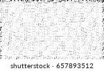 little squares white background ... | Shutterstock . vector #657893512