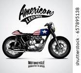 vintage motorcycle poster | Shutterstock .eps vector #657895138