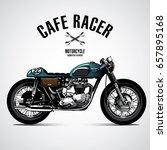 vintage motorcycle poster | Shutterstock .eps vector #657895168
