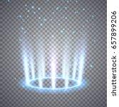 glittering magic fantasy portal.... | Shutterstock .eps vector #657899206