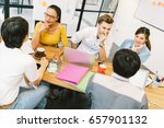 multiethnic diverse group of... | Shutterstock . vector #657901132