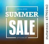summer sale badge  label  promo ... | Shutterstock .eps vector #657901462