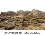 big rock on isolated white... | Shutterstock . vector #657903232