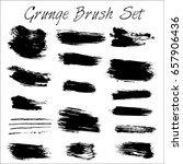 grunge brush and texture | Shutterstock .eps vector #657906436