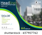 blue and green flyer cover... | Shutterstock .eps vector #657907762