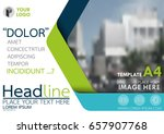 blue and green flyer cover... | Shutterstock .eps vector #657907768