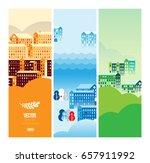 vector cityscape illustration... | Shutterstock .eps vector #657911992