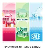 vector cityscape illustration... | Shutterstock .eps vector #657912022