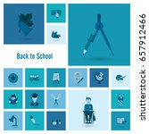 school and education icon set.... | Shutterstock .eps vector #657912466