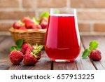 strawberry juice | Shutterstock . vector #657913225