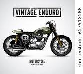 skull riding a vintage... | Shutterstock .eps vector #657913588