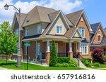 custom built luxury house in... | Shutterstock . vector #657916816