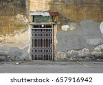 old aged wall with old folding... | Shutterstock . vector #657916942