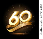 60 years golden anniversary... | Shutterstock .eps vector #657917488