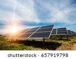 solar panel  photovoltaic ... | Shutterstock . vector #657919798