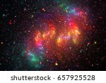 Rainbow Galaxy. Abstract Red ...