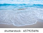 blue sea wave and sand beach | Shutterstock . vector #657925696
