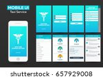 mobile app doctor consultation... | Shutterstock .eps vector #657929008