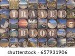travel blog background concept... | Shutterstock . vector #657931906