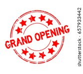 grunge red grand opening with... | Shutterstock .eps vector #657933442