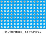 collage of chamomile flowers on ... | Shutterstock . vector #657934912