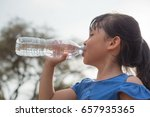children drink water | Shutterstock . vector #657935365