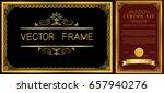 gold frame with corner thailand ... | Shutterstock .eps vector #657940276