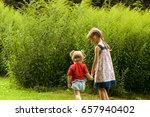 couple of little girls spending ... | Shutterstock . vector #657940402