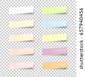 set of office paper sheets or... | Shutterstock .eps vector #657940456