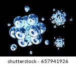 abstract molecular structure... | Shutterstock . vector #657941926