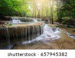 huay mae kamin waterfall ... | Shutterstock . vector #657945382