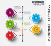 timeline infographic design... | Shutterstock .eps vector #657946522