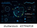 hud ui screen dashboard... | Shutterstock .eps vector #657946918