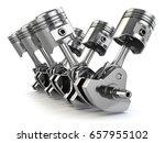 v6 engine pistons and... | Shutterstock . vector #657955102