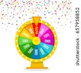 fortune of wheel and confetti.... | Shutterstock .eps vector #657958852