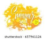 summer sale banner. tropical... | Shutterstock .eps vector #657961126
