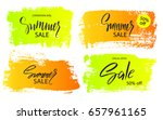 set of colorful summer sale... | Shutterstock .eps vector #657961165