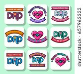 set of holiday stickers for... | Shutterstock .eps vector #657963322