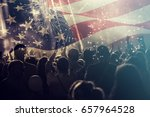 crowd of people celebrating... | Shutterstock . vector #657964528