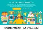 seo and development concept... | Shutterstock . vector #657968632