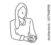 businesswoman is sitting   line ...   Shutterstock .eps vector #657968998