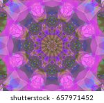 abstract magenta fractal with... | Shutterstock . vector #657971452