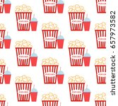 popcorn pattern on the white... | Shutterstock .eps vector #657973582