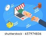 concept of ecommerce online... | Shutterstock .eps vector #657974836