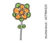 watercolor flower cartoon vector | Shutterstock .eps vector #657984325