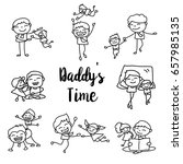 set of hand drawing cartoon... | Shutterstock .eps vector #657985135